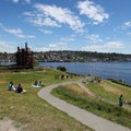 View east from the hill at Gas Works Park.- Gas Works Park