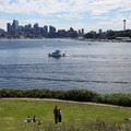 Panoramic view of the Seattle skyline from Gas Works Park.- Gas Works Park
