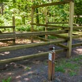 One of two horse corrals.- Herman Creek Campground