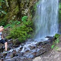 Waterfall along the trail.- Mount Defiance Hike