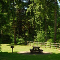 Picnic facilities at the Smith Homestead Day Use Area.- Smith Homestead Day Use Area