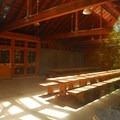 Smith Homestead Picnic Shelter interior.- Smith Homestead Day Use Area