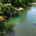Deep pools of the Wilson River.- Smith Homestead Day Use Area