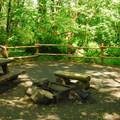 One of the 12 walk-in campsites at Keenig Creek Campground.- Keenig Creek Campground