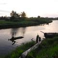 Sunset along the Necanicum River.- Seaside