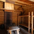 The enlisted men's quarters at Fort Clatsop.- Fort Clatsop