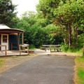 Campground Yurt in 'A' area.- Cape Disappointment State Park