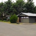Restroom/shower facilities.- Cape Disappointment Campgrounds A, B + C