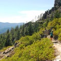 Short detour trail to Indian Springs.- Castle Crags Dome Hike