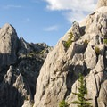 View west from the base of the Dome.- Castle Crags Dome Hike
