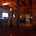Crater Lake Lodge reception area.- Crater Lake Lodge