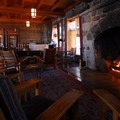 Fireplace in the Great Hall.- Crater Lake Lodge