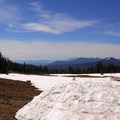 View southeast toward Klamath Lake.- Crater Lake Lodge