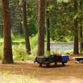 One of nine large walk-in campsites.- Allen Springs Campground