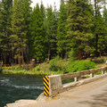 Lower Bridge along the Metolius River.- Lower Bridge Campground