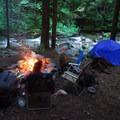 One of numerous campsite along Cedar Creek.- Shady Cove + Cedar Creek Campground