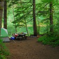 Typical campsite at Sunstrip Campground.- Sunstrip Campground