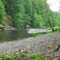 The Clackamas River from Sunstrip Campground.- Sunstrip Campground