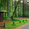 Vault toilet facilities.- Sunstrip Campground