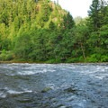 The Clackamas River below Armstrong Campground.- Armstrong Campground