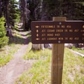 Access to various trailheads.- Fifteen Mile Campground