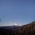 Mount Hood (11,249') under a full moon.- Oval Lake + Palisade Point via Lookout Mountain/Divide Trail