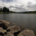 Walking along the Willamette River.- Mary S. Young State Recreation Area