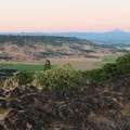 Looking to Mount McLoughlin (9,495 ft) from  the top of the plateau at Lower Table Rock.- Lower Table Rock Hike