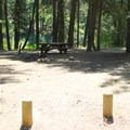 Campsite 3 is a good example of the large and open sites.- Candle Creek Campground