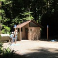 Restroom facilities at the trailhead.- Simpson Reed Grove + Peterson Memorial Trail