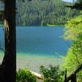 View of Walupt Lake from the trail.- Nannie Peak/PCT Loop Hike
