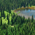 Lake at Short Trail Camp.- Nannie Peak/PCT Loop Hike