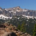 Goat Rocks with its highest point, Gilbert Peak (8,184').- Nannie Peak/PCT Loop Hike