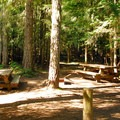 Double campsite.- Walupt Lake Horse Camp