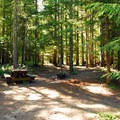 Typical Campsite.- Walupt Lake Horse Camp