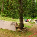 One of three group campsites.- North Fork Campground