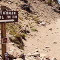 The trailhead at the bottom of the previous Rim Drive road.- Watchman Trail to Watchman Tower