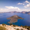 Unobstructed views of Crater Lake and Wizard Island.- Watchman Trail to Watchman Tower