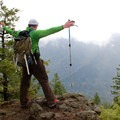 A rocky vantage point, and the 'pinnacle' of the hike... which comes before reaching the plateau.- Ruckel Ridge Loop Hike