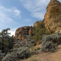 Rock formations at the top of Misery Ridge- Smith Rock State Park