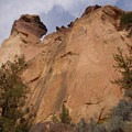 Looking up at Monkey Face- Smith Rock State Park