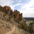 Heading down the Mesa Verde Trail- Smith Rock State Park