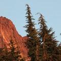 Mount Washington and the summit block at sunset- Mount Washington