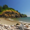 Panoramic view from Waikiki Beach- Cape Disappointment State Park