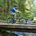 The first of many creek crossings on South Willamette Trail.- South Willamette Trail + Lower Hardesty Mountain Bike Ride