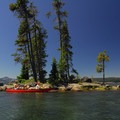 Waldo Lake near North Campground.- Waldo Lake
