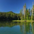 The cove at Shadow Bay Campground.- Waldo Lake