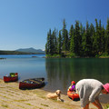 The boat ramp at North Waldo Campground.- Waldo Lake, North Waldo Campground