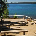 The amphitheater at North Waldo Campground.- Waldo Lake, North Waldo Campground