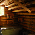 The North Waldo Warming Hut located just east of the campground.- Waldo Lake, North Waldo Campground